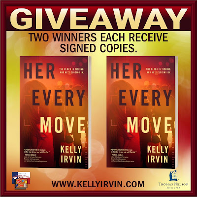 Her Every Move tour giveaway graphic. Prizes to be awarded precede this image in the post text.