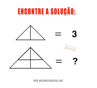 Desafio dos triângulos - Encontre a solução