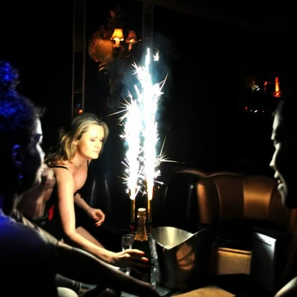 Nite Sparx Big Birthday Candles Champagne Bottle