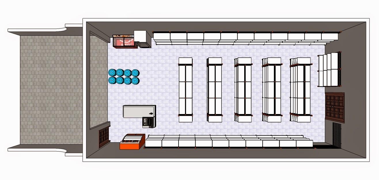 desain Layout minimarket - RAK MINIMARKET MURAH