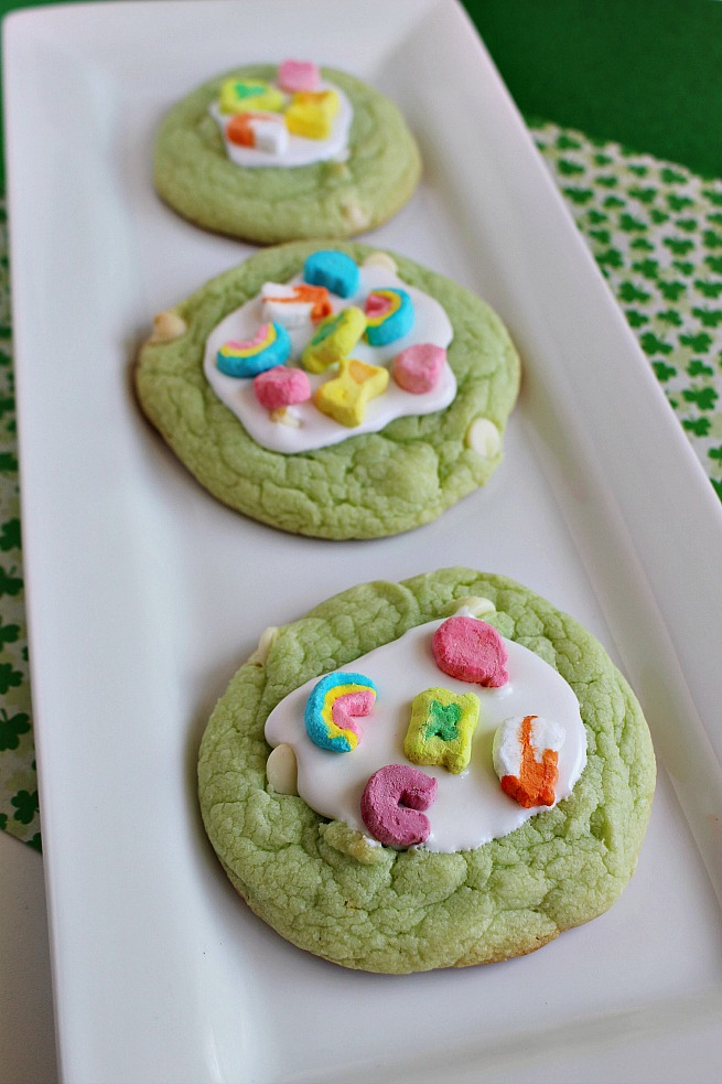 Magically Delicious Lucky Charms Cookies
