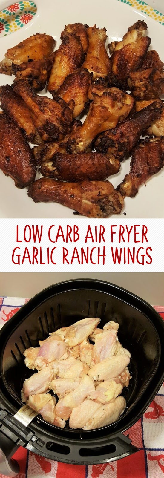 Low Carb Air Fryer Garlic Ranch Wings