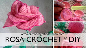 Rosa a Crochet Paso a Paso