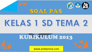 Download Soal PAS Ganjil Kelas 1 SD Tema 2