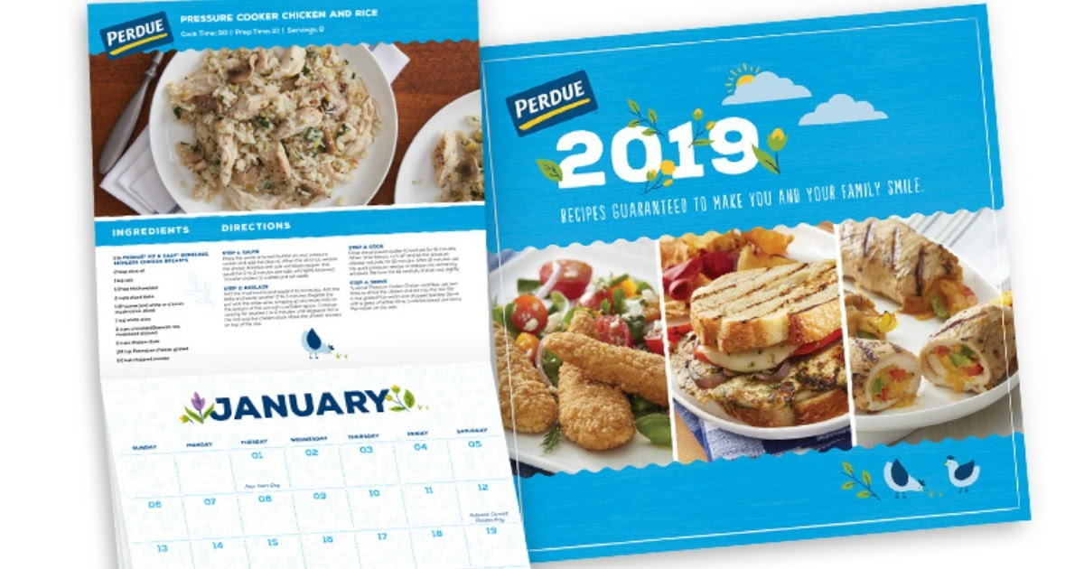 Steward Of Savings : FREE 2019 Perdue Recipe Calendar