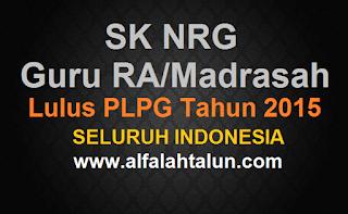 Download SK NRG Lulus Seritifikasi Tahun 2015 Seluruh Indonesia