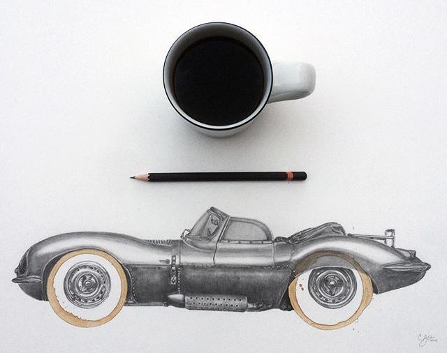 Coffee Stain Jaguar Art