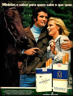 Brazilian advertising cigarettes,  propaganda anos 70; história decada de 70; reclame anos 70; propaganda cigarros anos 70; Brazil in the 70s; Oswaldo Hernandez;