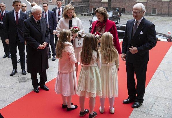 Crown Princess Victoria wore Acne Studios Avalon Double Coat. Princess Sofia, Queen Silvia, Rizzo Pumps