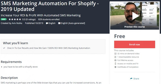 [100% Free] SMS Marketing Automation For Shopify - 2019 Updated