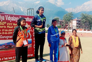 Sreeparvathy wins Gold at KVS National Sports Meet