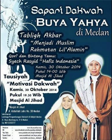 Safari Dakwah Buya Yahya di Medan