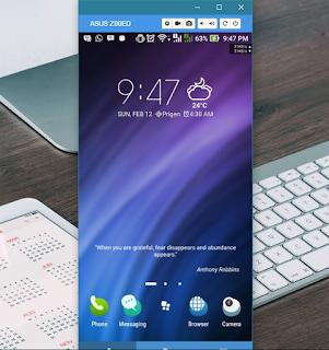 Remote Smartphone Android Menggunakan Komputer