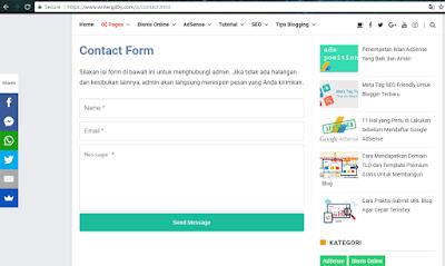 cara membuat kontak forum di blogspot mudah