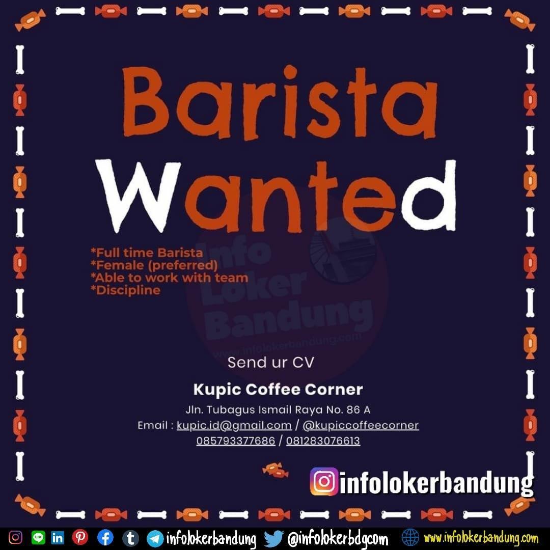 Lowongan Kerja Kupic Coffee Corner Bandung Maret 2020