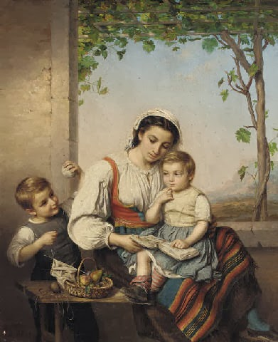 Mother with Children, Marie Adèle Kindt