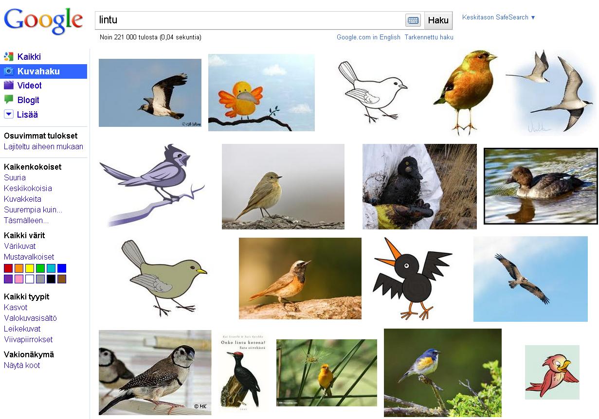 Googlen Kuvahaku Toiminto