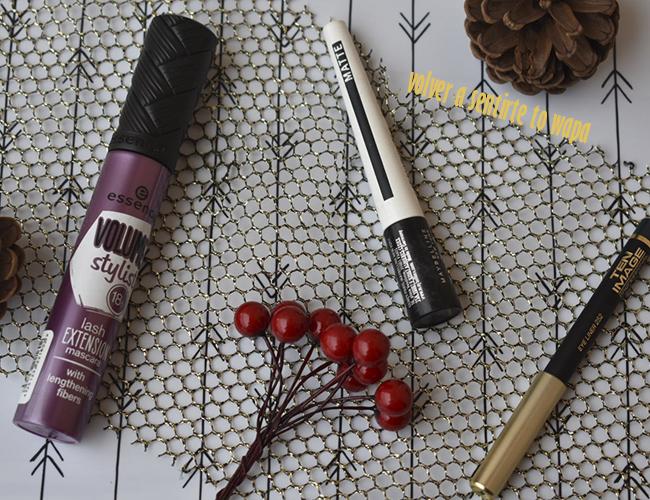 Favoritos Maquillaje: máscara de pestañas de Essence, delineador master ink de Maybelline y lápiz de ojos de Ten Image