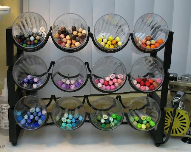 Marker storage idea for craft space