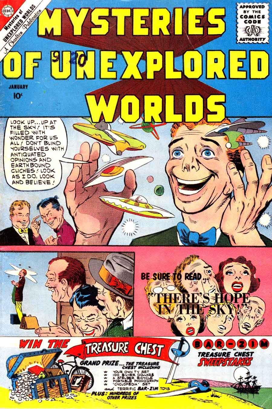 Mysteries of Unexplored Worlds v1 #22 charlton comic book cover art by Steve Ditko