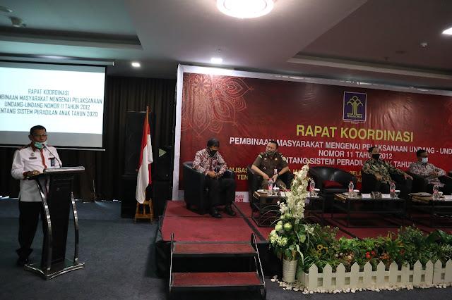 Kakanwil Kemenkumham Jambi Buka Rakor Pembinaan Masyarakat Mengenai Pelaksanaan UU No 11 tahun 2012 Sistem Peradilan Anak.