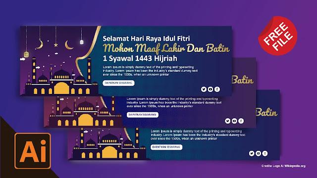 5 Banner Idul Fitri : Download Spanduk Idul Fitri 1442 Coreldraw Dan Illustrator Gratis