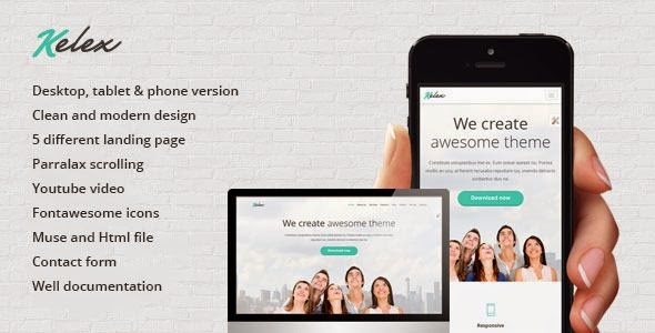 Best Landing Page Muse Template