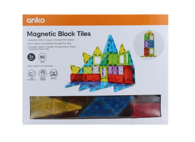 kmart magnetic tile block set