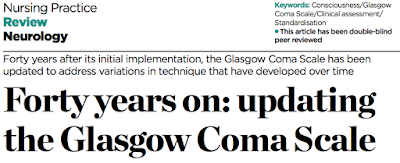 Forty years on: updating the Glasgow Coma Scale