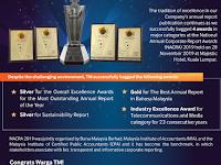 TM bagged 4 awards at NACRA 2019. Well done Warga TM!