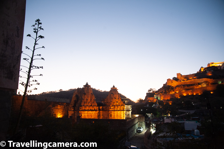 All of these beautiful temples inside Kubhalgarh fort are lit well and they look beautiful during light & sound show at Kumbhalgarh Fort of Rajsthan.