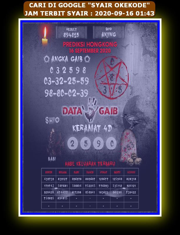 Kode syair Hongkong Rabu 16 September 2020 211