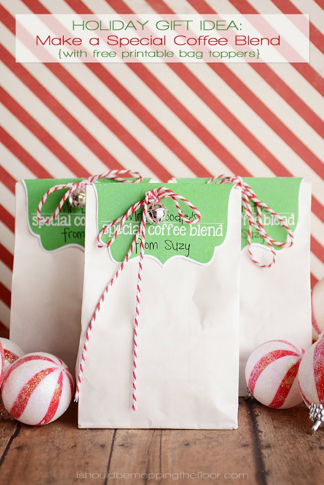 Holiday Gift Idea: Make a Special Coffee Blend {with free coffee blend bag toppers}