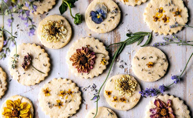 Lavender Lemon Sugar Cookies