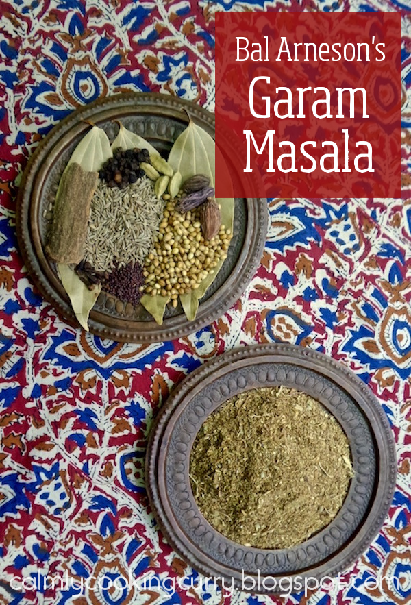 Bal Arneson, garam masala, Indian, Recipe, spices, cardamom, cinnamon, cloves, coffee grinder, cumin, easy, nutmeg, pepper, Recipe, spice mix,