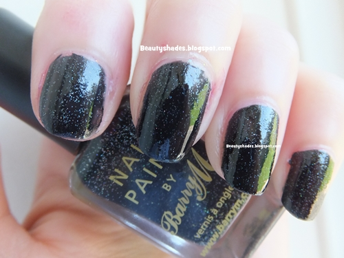 Barry M Black Multi Glitter