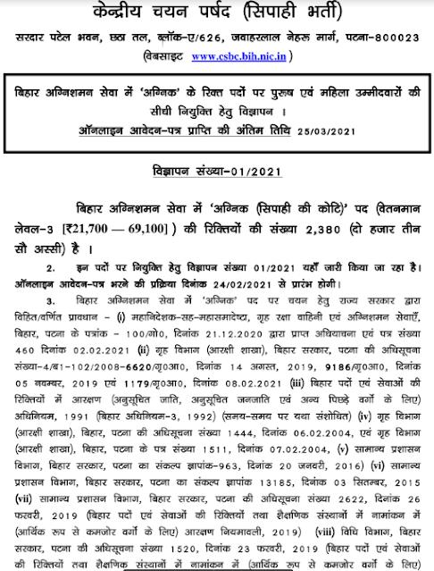 Bihar Police Fireman online form 2021