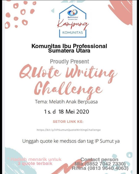 quote writing challenge