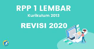 Download RPP 1 Lembar K13 Revisi 2020 Bahasa Inggris Kelas 7 Semester 1