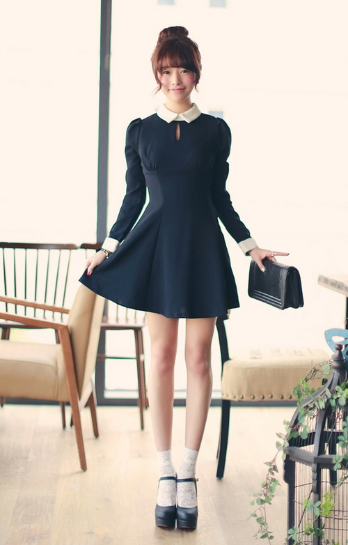 Collared Keyhole Dress