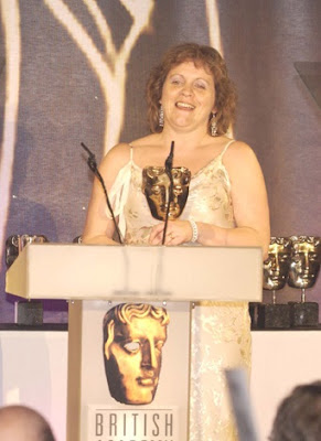 Elaine Pritchard collects a BAFTA award for Headline History