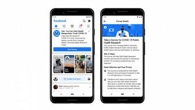 Pesquisa de saúde do Facebook ajuda Carnegie Mellon a rastrear casos de COVID-19