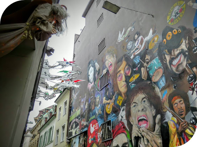 Ringing in the New Year Swiss Style in Basel: Rock and Roll Street Art featuring Lemmy