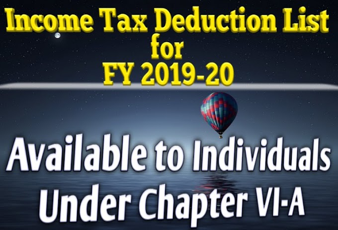 Income Tax Deductions for Salaried Employees FY 2019-20