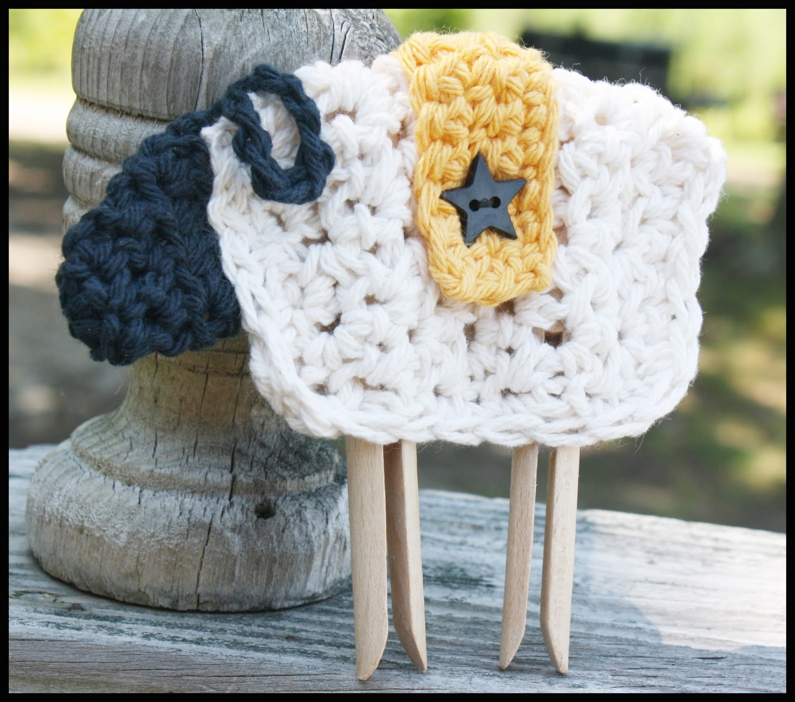 123imaginationalive Free Primitive Sheep Crochet Pattern With