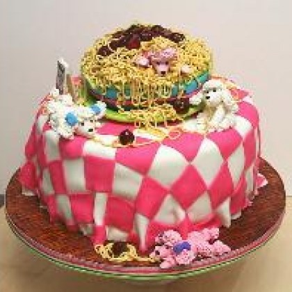Oodles of Poodles and Noodles Cake