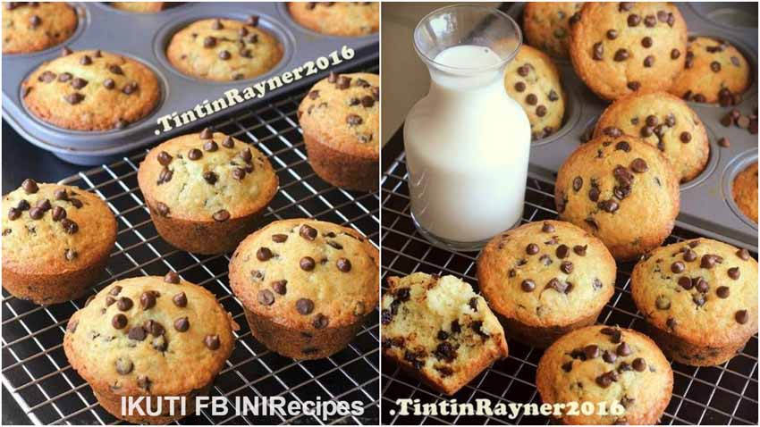 Resep Membuat Best Vanilla Chocochips Muffin Ever With Buttermilk