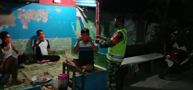 Penegakan Disiplin Protokol Kesehatan Covid-19 , Babinsa Koramil 04/Pedan Aktif Patroli Wilayah