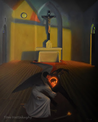 Vision after the Sermon-Oil on canvas-155x193 cm-HuesnShades