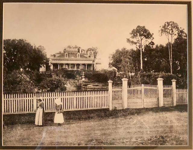Old Photo shows the former front gardens at San Francisco Plantation.